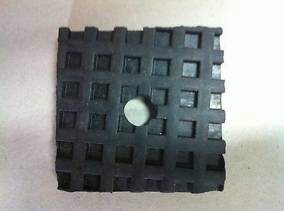 BLACK WAFFLE RUBBER - ANTI VIBRATION PADS FOR MACHINERY - Pack of 4