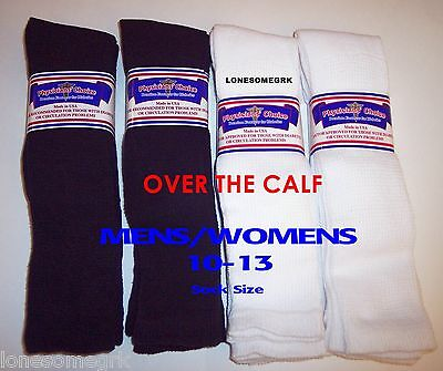 6 Pairs Physicians Choice OVER THE CALF Cushioned Diabetic Socks  USA Made!