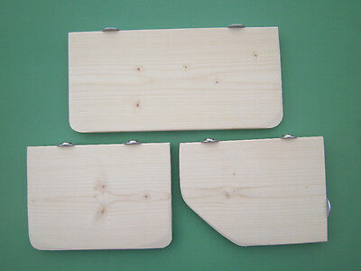 """3 Pack Pine 6"""" Deep Replacement Shelves for Chinchilla,Rat,Chipmunk,Degu cage"""