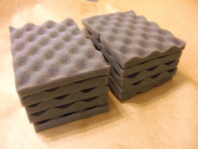 LOT OF 10 soft recycled foam packing sheet pad protection flexible shipping 6x8