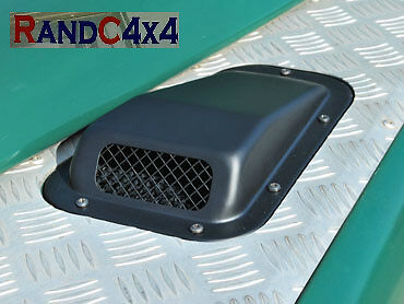 DA4000 Land Rover Defender Raised Wing Top Air Intake Grill Black Metal Left