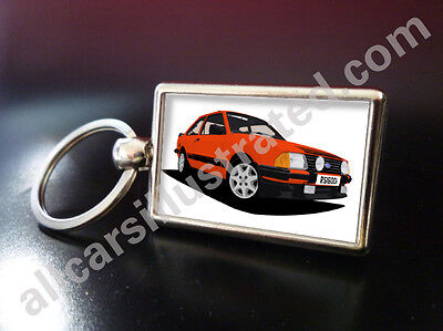 RS1600i Private Reg GB Yellow Number Plate Leather Keyring for FORD RS 1600i Key