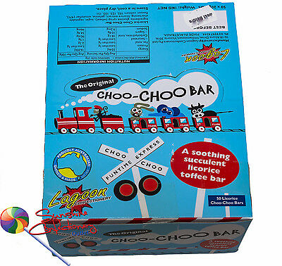 Choo-Choo Bars  -  The Original Licorice Bar - 50 pieces AUSTRALIAN MADE