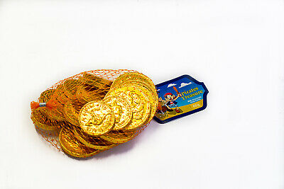 5 X CHOCOLATE Gold Coins Bags - 80G  -  PIRATE PARTY LOLLIES, Christmas Treats