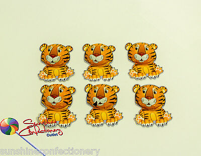 6 X Chocolate Tigers - STORZ  - PARTY LOLLIES, Cupcake Toppers Postage Included