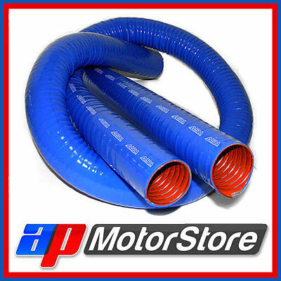 """57Mm 2 1/4"""" Blue Silicone Ducting Flexible Induction Air Intake Pipe Hose 0.5M"""