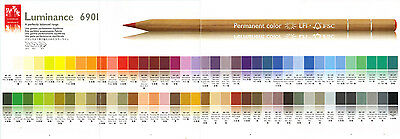 CARAN DACHE LUMINANCE 6901 COLOUR PENCILS Colours
