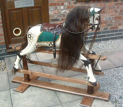 BEST Quality Rocking Horse hair Mane, Tail, F'lock set ON HIDE -CHESTNUT S, M, L