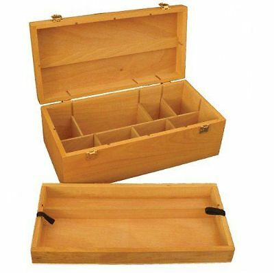 Loxley Howden Wooden Storage Box ideal for paints brushes pencils