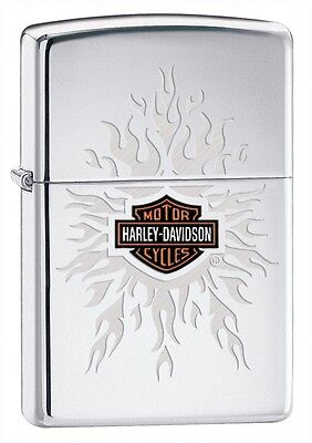 Zippo Lighter Harley Davidson High Polished Chrome Personalised Engraved Free