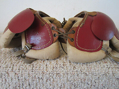 "Vintage Football Child's Mini Shoulder Pads By ""george A Reach Company"""