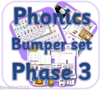 LETTERS AND SOUNDS PHASE 3 Bulk Pack -  Primary / EYFS IWB Teaching Resources