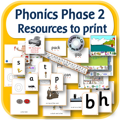 LETTERS AND SOUNDS PHASE 2 English phonics teaching resources KS1 EYFS on CD