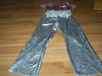 Size SA Small Adult Very Petite Teen Weismans Dance Outfit Silver Pink Inseam 24