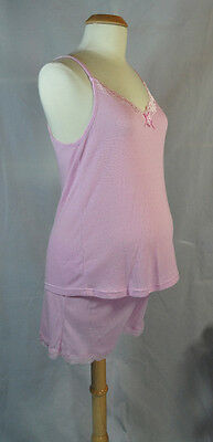NEW 2 Pc Maternity Pajama Camisole Top & Shorts Set- Small S Medium M or Large L