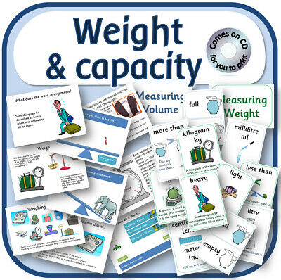WEIGHT and CAPACITY KS1 MEASURES Primary Maths teaching display resources on CD