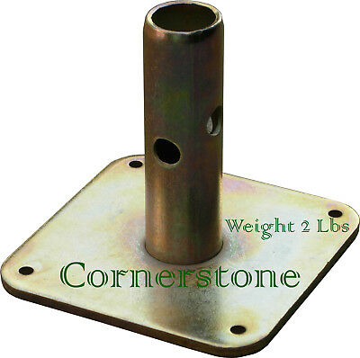 "8 Quality Scaffolding Square Base Plate 5"" X 5"" Scaffold Frame Safety Base plate"