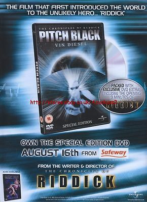 Pitch Black Special Edition DVD 2004 Magazine Advert #2558