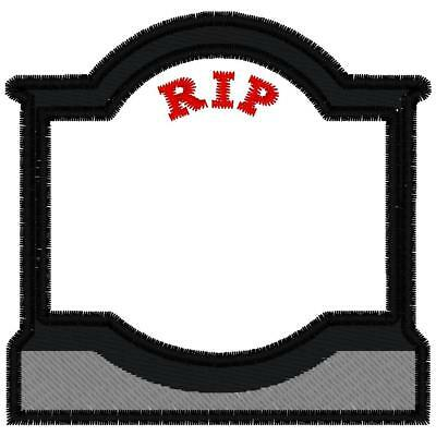 Custom Embroidered  Motorcycle   Tombstone  Memory  Patch