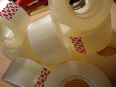 48 x EASY TEAR CLEAR TAPE SELLOTAPE 25mm x 33M