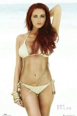 AMY CHILDS POSTER ~ GOLD 24x36 Only Way Essex Celebrity Big Brother UK Pinup