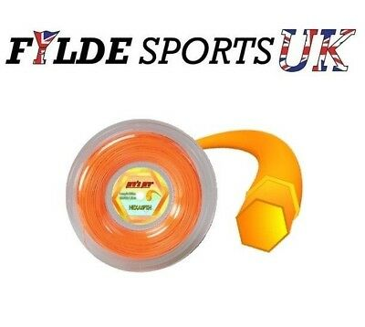 Pro's Pro Hexaspin Tennis String 1.30mm 200m Reel Gold - Cheapest Price FREE P&P