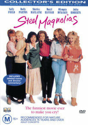 STEEL MAGNOLIAS Julia Roberts Dolly Parton Shirley MacLaine NEW DVD Region 4 AU