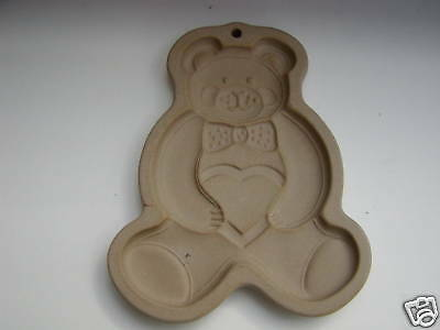 TEDDY BEAR Cookie Art Mold 1991 PAMPERED CHEF Chocolate Christmas Ornament