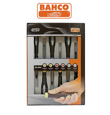NEW Bahco ERGO 6 Piece Pozi/Phillips/Slotted Pz,Ph,Slot Screwdriver Set BE-9886