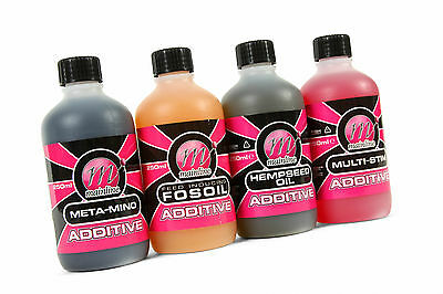 Mainline Baits Oils & Additives 250ml Bottle - All Types Available