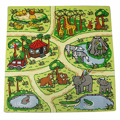 81 Piece Zoo Play Mat Kids Soft Foam Interlocking Baby Infants Floor Tile Mat