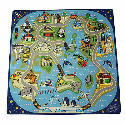 81 Piece Road Trip Mat Kids Play Interlocking Infant Baby Puzzle Tiles