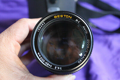 Beston  MC Auto Zoom/C-Macro 1:4.5 f=80-200mm camera lens