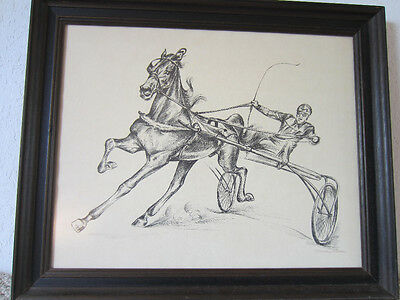 """Signed, Original, Pen & Ink Drawing Of """"trotter Sulky"""""""