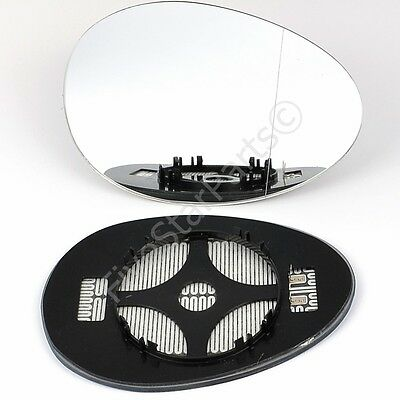 Right Driver side Wide Angle mirror glass for Mini Cooper One 2006-13 Heated