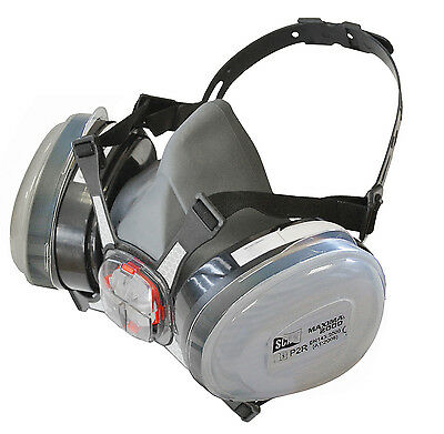 SCAN P2 DUST Twin Cartridge Filters With Half Face Mask/Respirator,SCAPPERESPP2