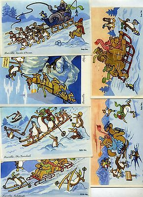 6 Cp Rob-Vel Zooville Sports D'hiver. 1945. Spirou