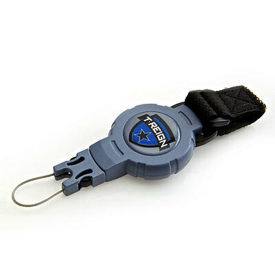 T-Reign Retractable Gear Tether with Hook and Velcro Loop Strap #TRMDST