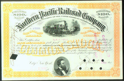FANCY NUMBER of FIVE 5's ( A55555 ) NORTHERN PACIFIC RAILROAD CERTIFICATE 1896