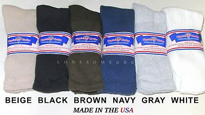 6 Mens Physicians Choice Cushioned & Ventilated Diabetic Crew Socks USA Made lot