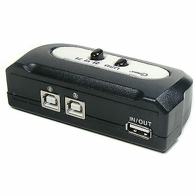 USB 2.0 AB 2way//port manual switch box data//printer//hub sharing 2B 1A $SHdisc{T
