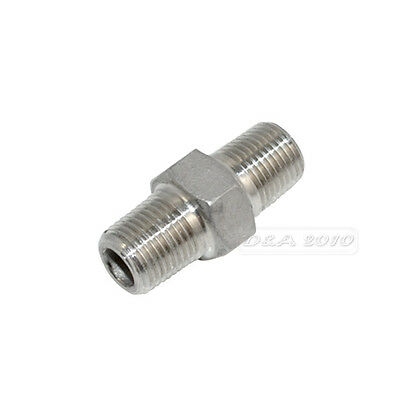 """Hex Nipple 1/8"""" Male x 1/8"""" Male 304 Stainless Steel threaded Pipe Fitting NPT"""
