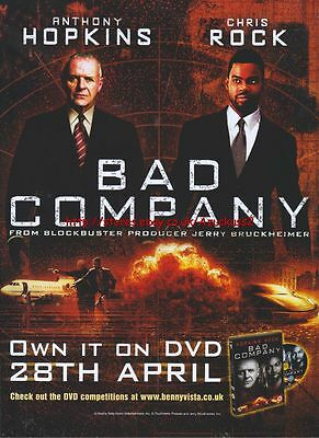 Bad Company DVD 28th April 2003 Magazine Advert #93