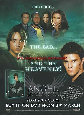 Angel Season 3 DVD Collection DVD 3rd March 2003 Magazine Advert #90