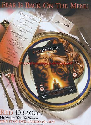 Red Dragon DVD & Video 19th May 2003 Magazine Advert #164