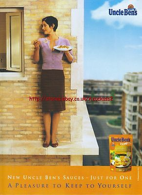 "Uncle Bens Express ""Just For One"" 2003 Magazine Advert #3467"