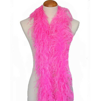 Mauve Pink 2ply Ostrich Feather Boa Scarf Prom Halloween Costumes Dance Decor