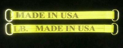 2 USA Made Choker 48 inches Axle Strap Tie Down Towing Hauling