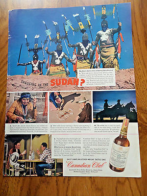 1941 Canadian Club Whiskey Ad Gallup Indian Festival in Gallup  New Mexico
