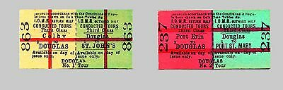 Isle of Man Railway No 1 & 2 Conducted Tour Tickets introduced 1914